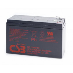 CSB HR1224WF2 12 Volt 6.5 AH Sealed Lead Acid Battery