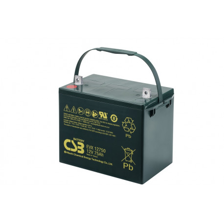 CSB EVX12750 12V 75Ah Deep Cycle VRLA AGM Traction Electric Vehicle Battery