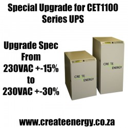 Special Wide Input Voltage Window Upgrade for Create Energy CET1100 Series Online Single Phase UPS