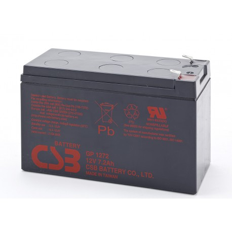 CSB GP1272 12 Volt 7.2 AH Sealed Lead Acid Battery