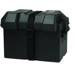 Marine Battery Box (XL) for 100 A/h Battery (Black)