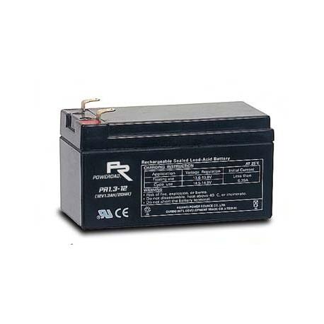 12 Volt 1.3AH Sealed Lead Acid AGM Battery (Poweroad)