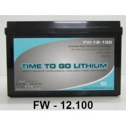 Freedom Won 12V 100Ah Lithium Ion LiFEPO4 Battery